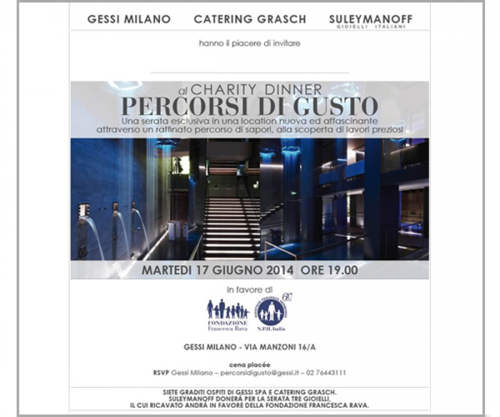 PERCORSI DI GUSTO-CHARITY DINNER - MILANO 2014